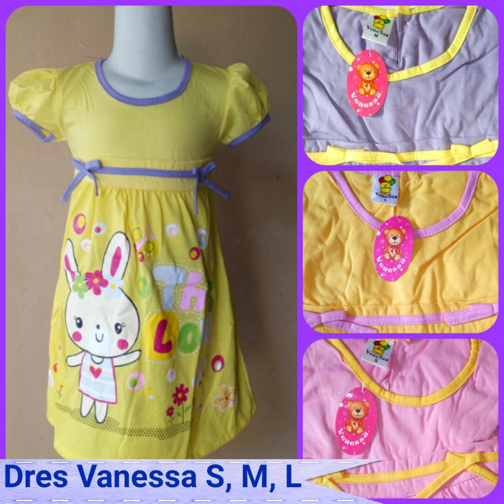 Grosiran Dress Vanessa SML Karakter Termurah