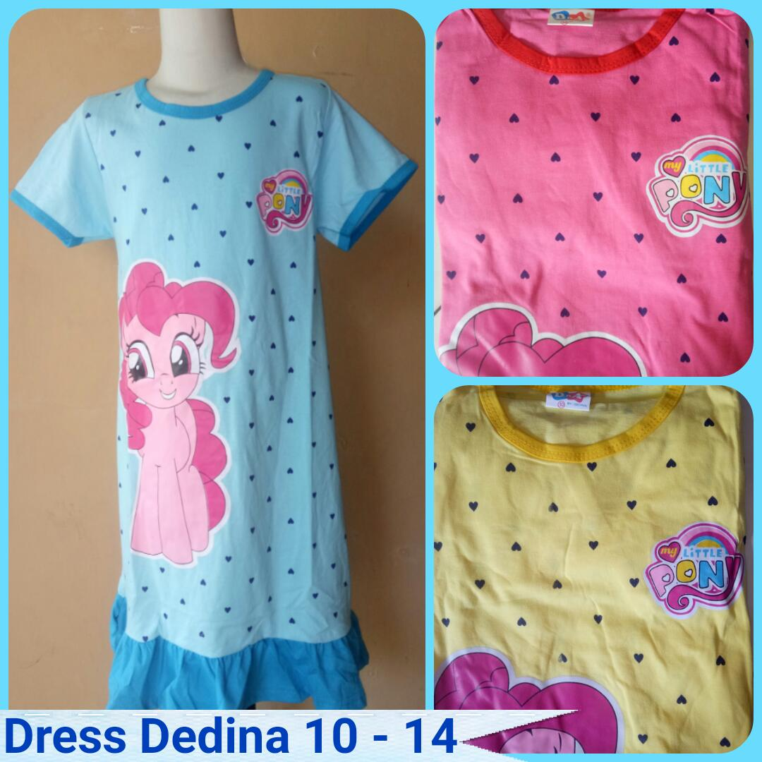Pusat Grosir Dress Dedina 10-14 Anak Karakter Perempuan