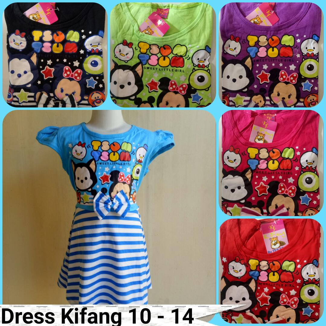 Grosiran Murah di Bandung Sentra Grosir Dress Kifang Anak Size 10-14 Anak Karakter Murah 22Ribuan