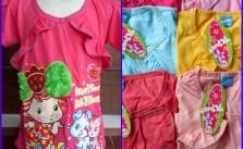 Sentra Grosir Kaos Ombak Anak Karakter Cewe Murah