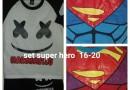 Grosir Setelan Super Hero Size 16-20 Anak Laki Laki Murah