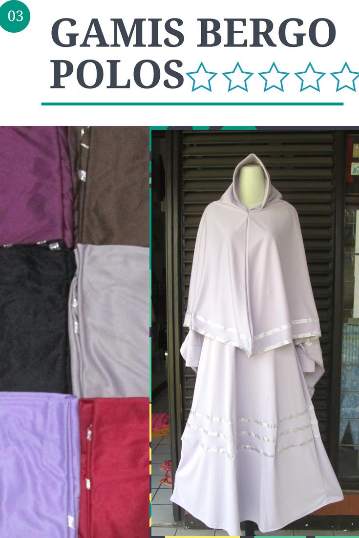 Grosiran Murah di Bandung Produsen Gamis Bergo Polos Syar'i Dewasa Murah Bandung 64Ribu
