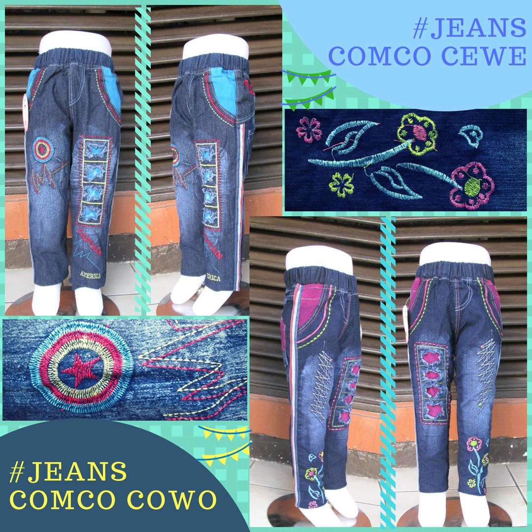 Grosiran Murah di Bandung Supplier Celana Jeans Comco Anak Murah Bandung 35Ribu