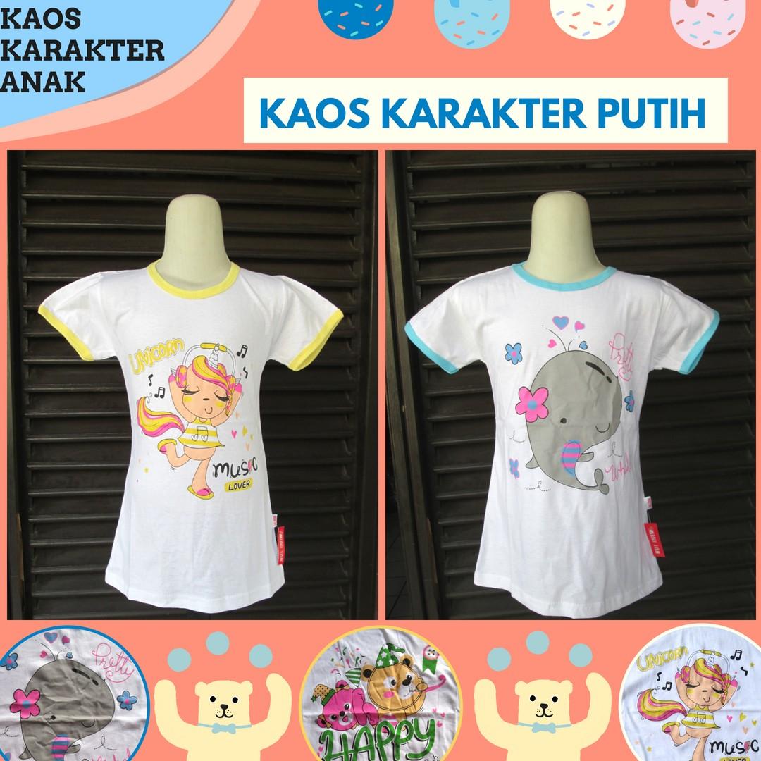 Grosiran Murah di Bandung Grosir Kaos Karakter Anak Perempuan Murah di Bandung Mulai Rp.10.500