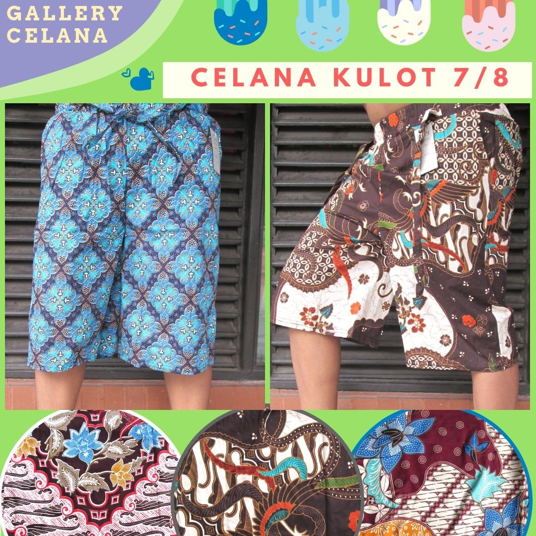Grosiran Murah di Bandung Produsen Celana Kulot Motif Batik 7/8 Dewasa Murah di Bandung 28Ribu