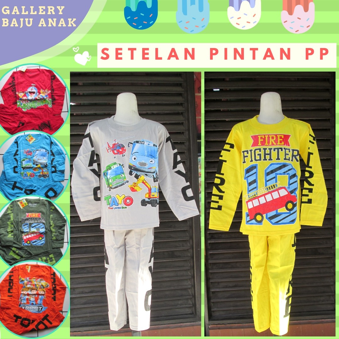 Grosiran Murah di Bandung Grosiran Setelan Pintar Lengan Panjang Anak Laki Laki Karakter Murah di Bandung Mulai 28Ribu