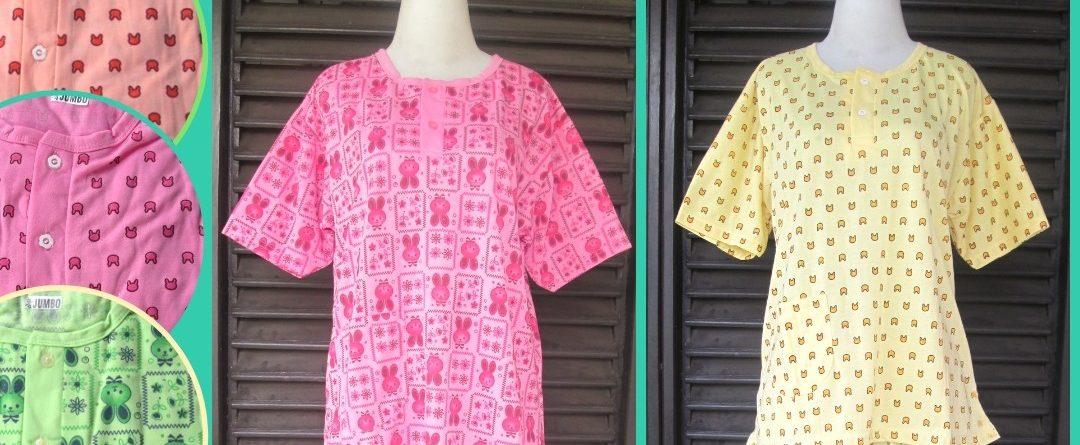 Grosiran Murah di Bandung Konveksi Baju Tidur Katun 3/4 Dewasa Jumbo Murah di Bandung 30Ribu