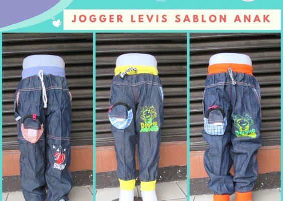 Grosiran Murah di Bandung Sentra Distributor Celana Jogger Levis Sablon Anak Laki Laki Murah 20Ribu
