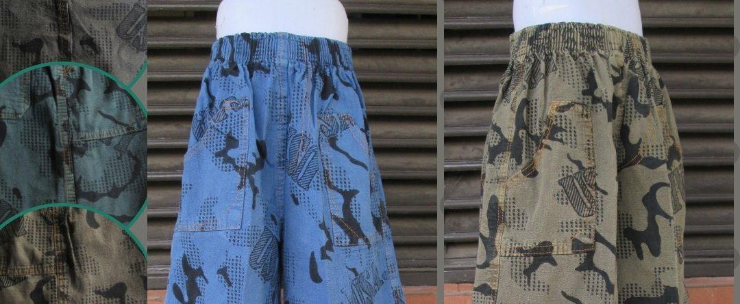 Grosiran Murah di Bandung Konveksi Celana Loreng Anak Tanggung Murah di Bandung 18Ribuan