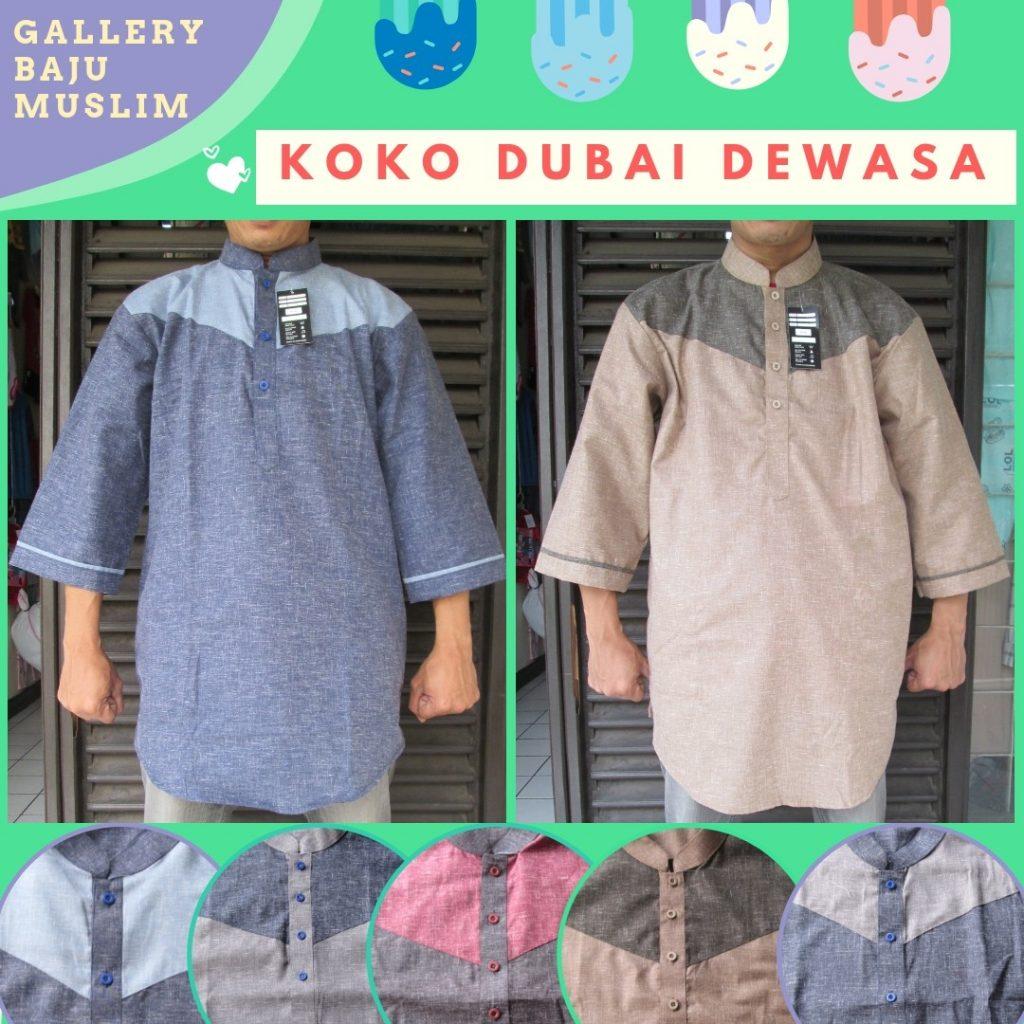 Grosiran Murah di Bandung Pabrik Baju Koko Dubai Dewasa Premium Murah di Bandung 77Ribu