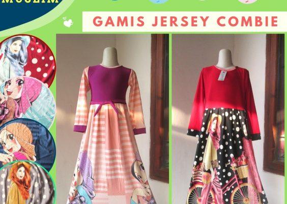 Grosiran Murah di Bandung Pusat Grosir Gamis Jersey Combie Anak Perempuan Murah di Bandung Mulai Rp.26.000.-