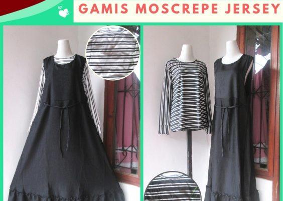 Grosiran Murah di Bandung Supplier Gamis Moscrepe Jersey Dewasa Model Terbaru Murah di Bandung 83Ribuan