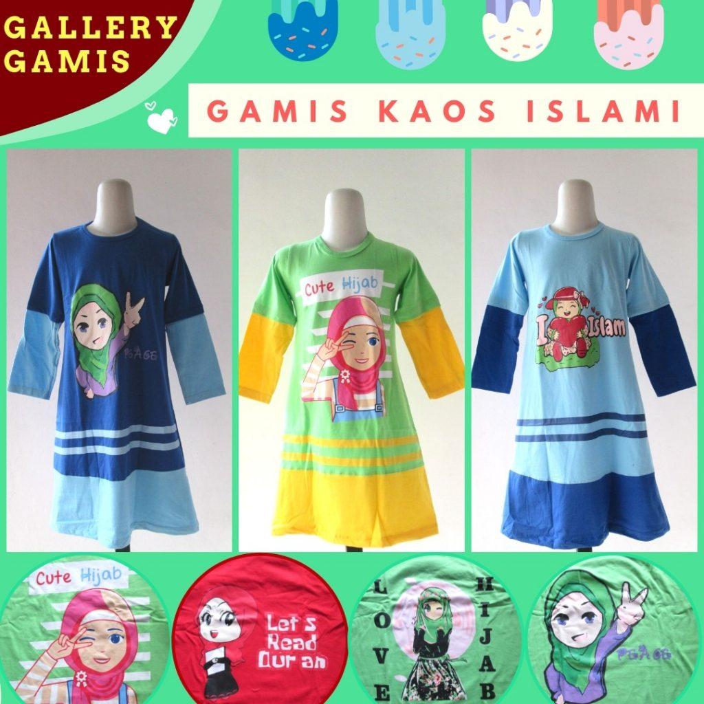 Grosiran Murah di Bandung Supplier Gamis Kaos Islami Anak Perempuan Murah di Bandung 35Ribuan