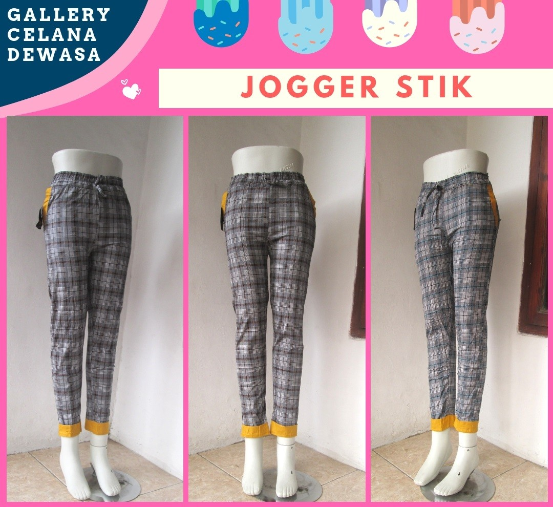 Grosiran Murah di Bandung Supplier Celana Jogger Stik Wanita Dewasa Murah di Bandung HANYA 28RIBUAN!!!