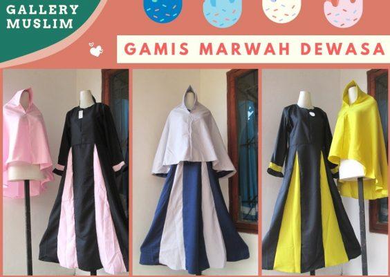 Grosiran Murah di Bandung Supplier Gamis Marwah Dewasa Syar'i TERMURAH di Bandung 90Ribuan