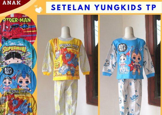 Grosiran Murah di Bandung Supplier Setelan Yungkids TP Anak Laki Laki Murah di Bandung Mulai Rp.28.500