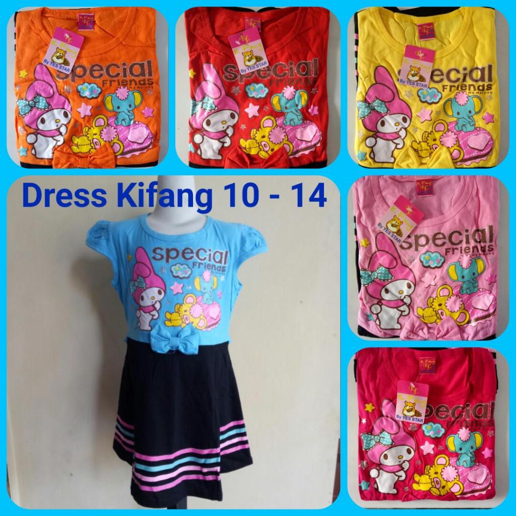 Grosiran Murah di Bandung Grosir Dress Kifang Anak Size 10-14 Karakter Murah 22Ribu