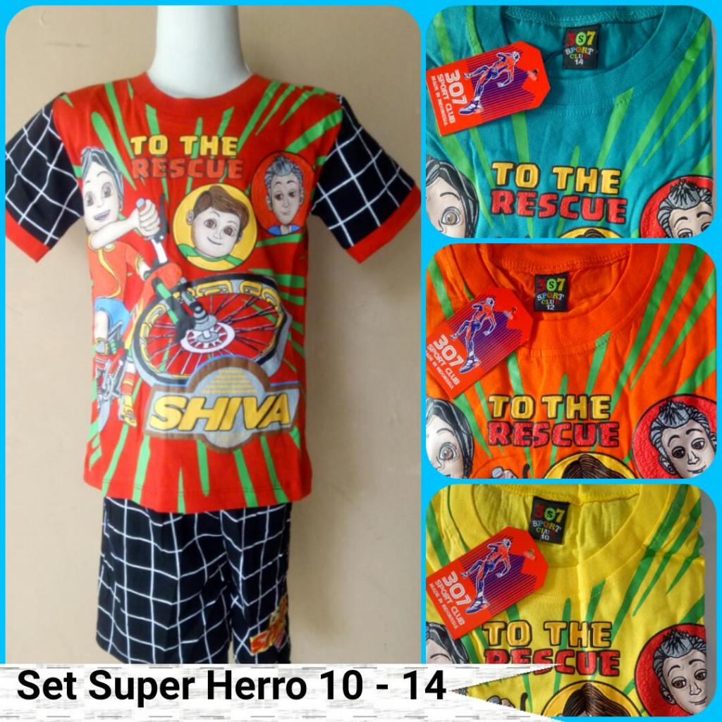Grosiran Murah di Bandung Grosir Setelan Super Hero Size 10-14 Anak Termurah Rp.22.500