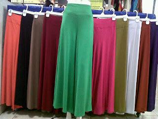 Grosiran Murah di Bandung Pusat Grosir Celana Kulot Jersey Wanita Dewasa Murah 32Ribu