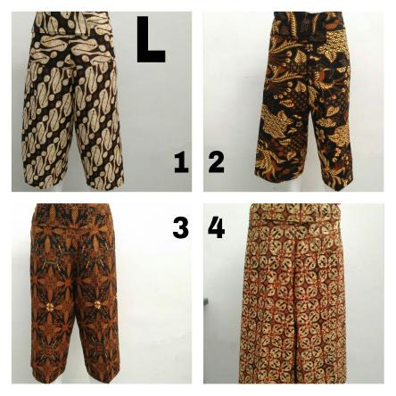 GROSIR PAKAIAN MURAH ONLINE DI BANDUNG Sentra Kulakan Celana Kulot Batik Wanita Dewasa Murah 35Ribu