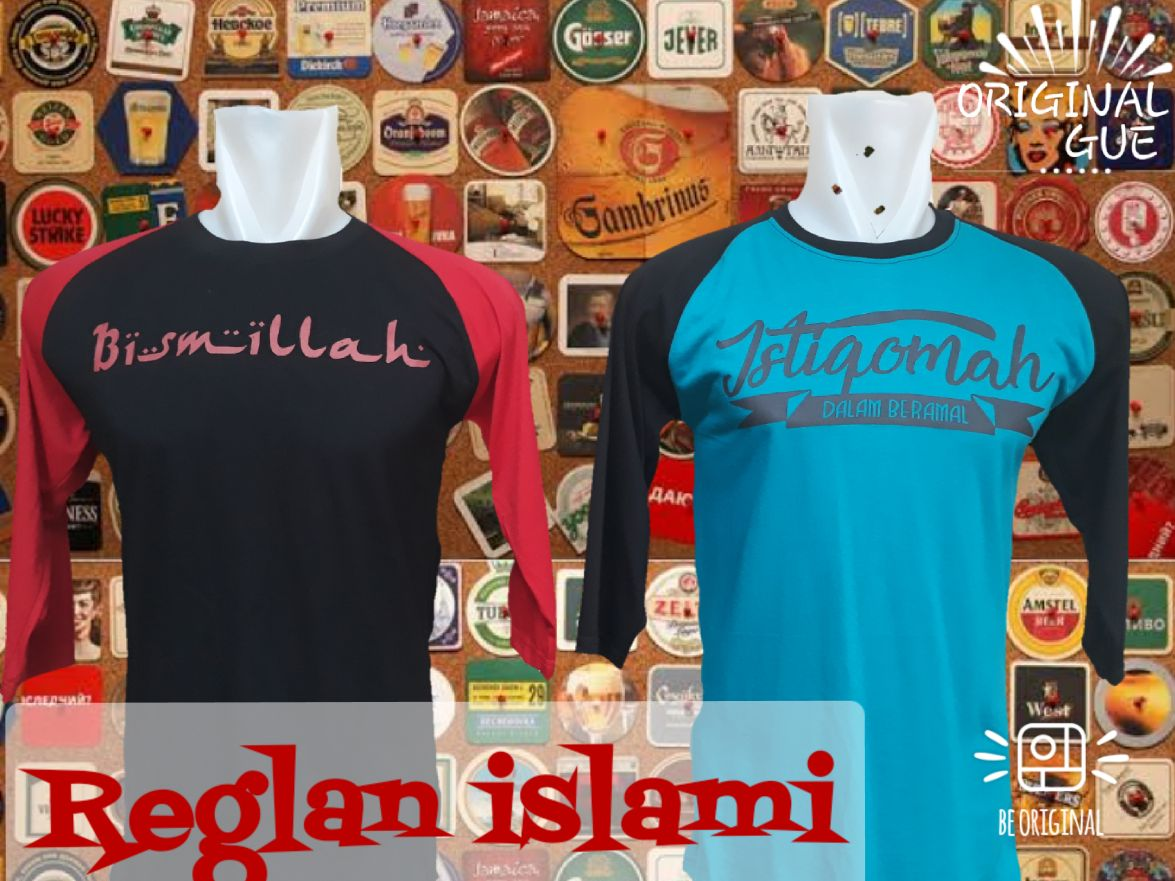 Grosiran Murah di Bandung Sentra Grosir Kaos Distro Raglan Islami Dewasa Murah Bandung 30Ribu