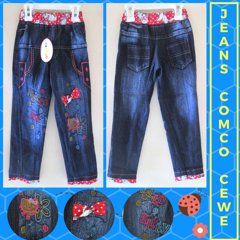 Grosiran Murah di Bandung Produsen Celana Jeans Comco Anak Perempuan Murah Bandung 35Ribu