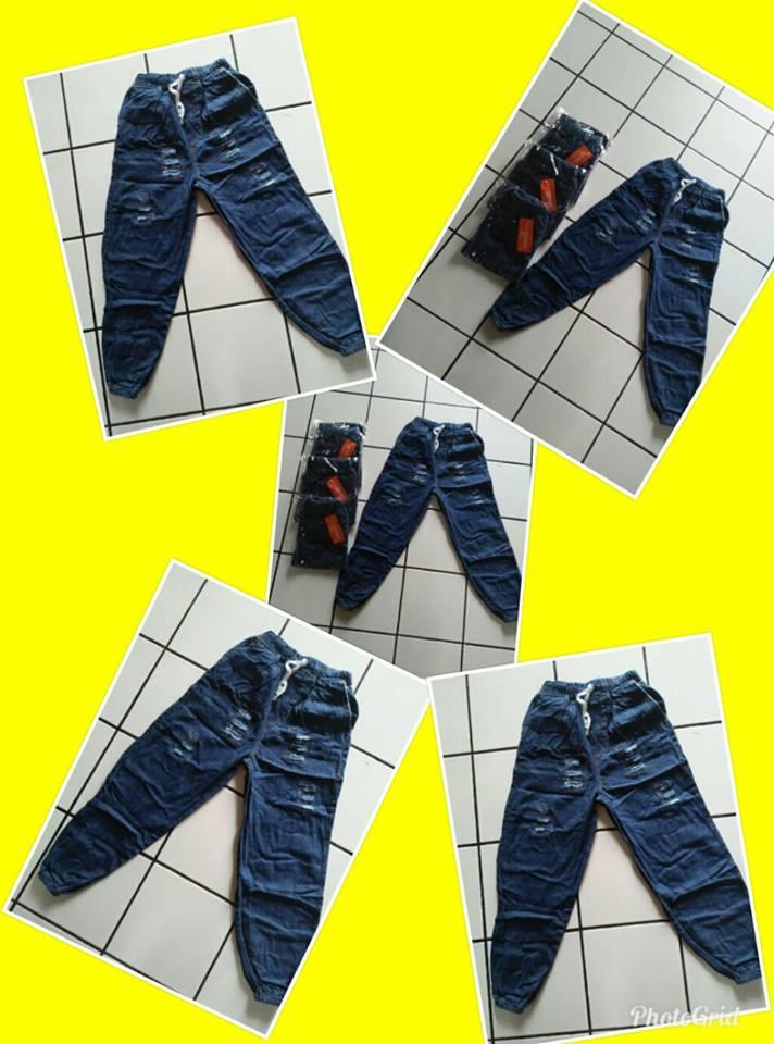 GROSIR PAKAIAN MURAH ONLINE DI BANDUNG Produsen Celana Jogger Jeans Anak Tanggung Murah Bandung 35Ribu