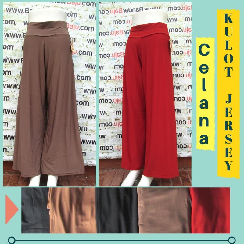 Grosiran Murah di Bandung Distributor Celana Kulot Jersey Dewasa Murah Bandung 32Ribu