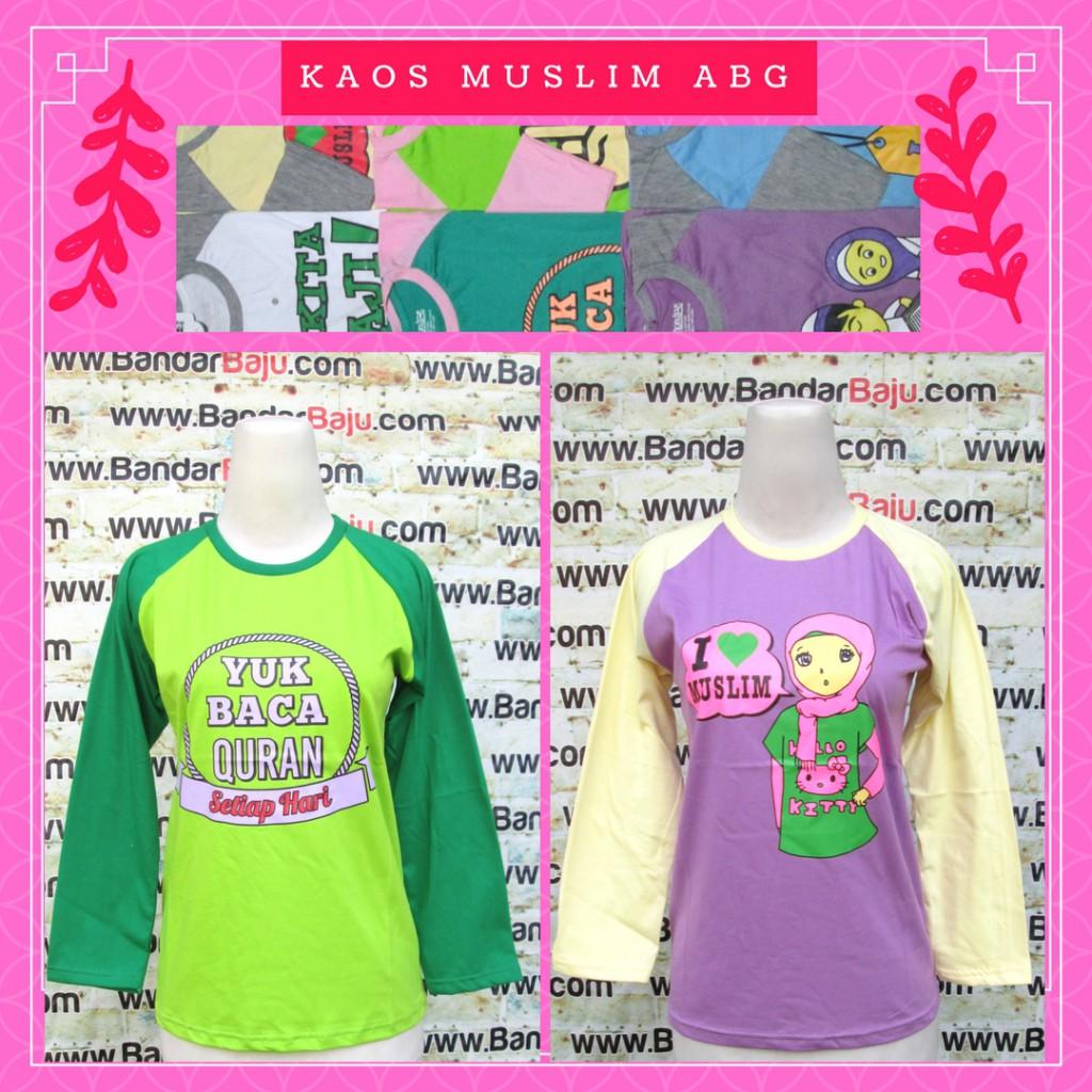 Grosiran Murah di Bandung Distributor Kaos Muslim ABG Karakter Murah Bandung 24Ribu