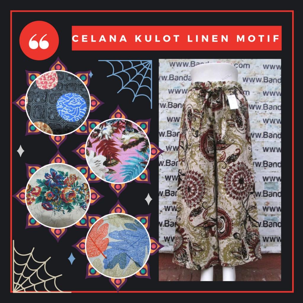 Grosiran Murah di Bandung Distributor Celana Kulot Linen Wanita Dewasa Murah Bandung 40Ribu