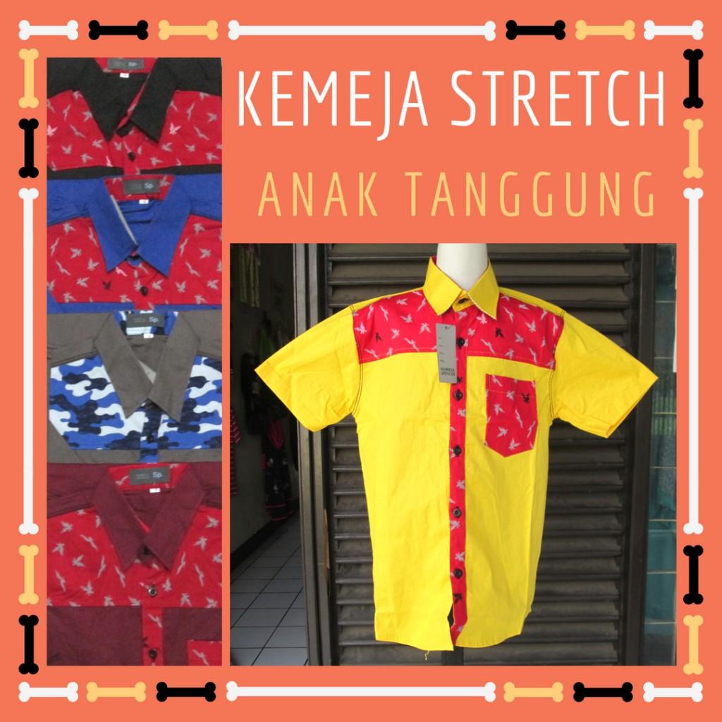 Grosiran Murah di Bandung Agen Kemeja Stretch Anak Tanggung Murah Bandung 28Ribu