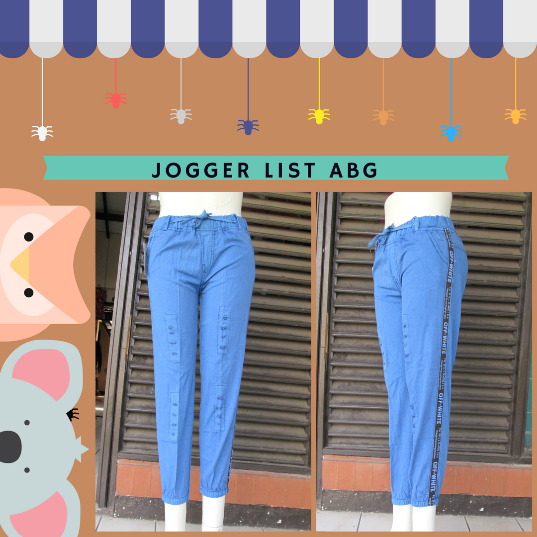 Grosiran Murah di Bandung Distributor Celana Jogger List ABG Murah Bandung 36Ribu