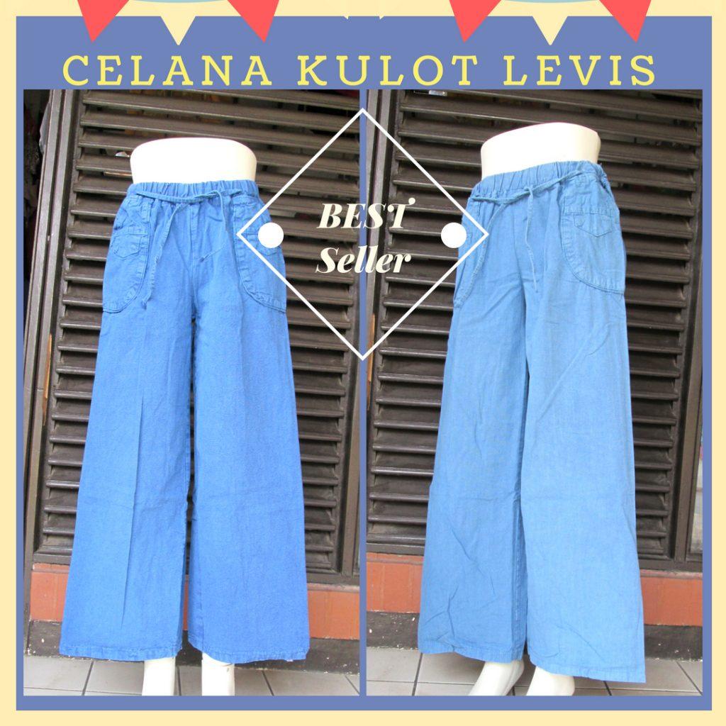 Grosiran Murah di Bandung Distributor Celana Kulot Levis Dewasa Murah Bandung 40Ribu