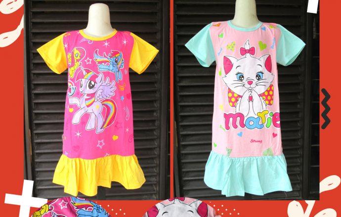 Grosiran Murah di Bandung Produsen Baju Anak Perempuan Karakter Murah Mulai Rp.18.500 di Bandung