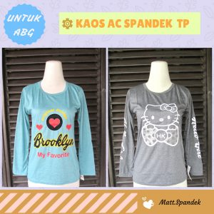 GROSIR PAKAIAN MURAH ONLINE DI BANDUNG Supplier Kaos AC Spandek TP ABG Murah Bandung
