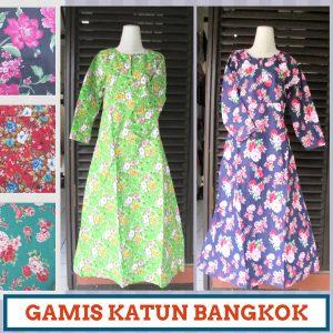 Supplier Gamis Katun Bangkok Murah di Bandung