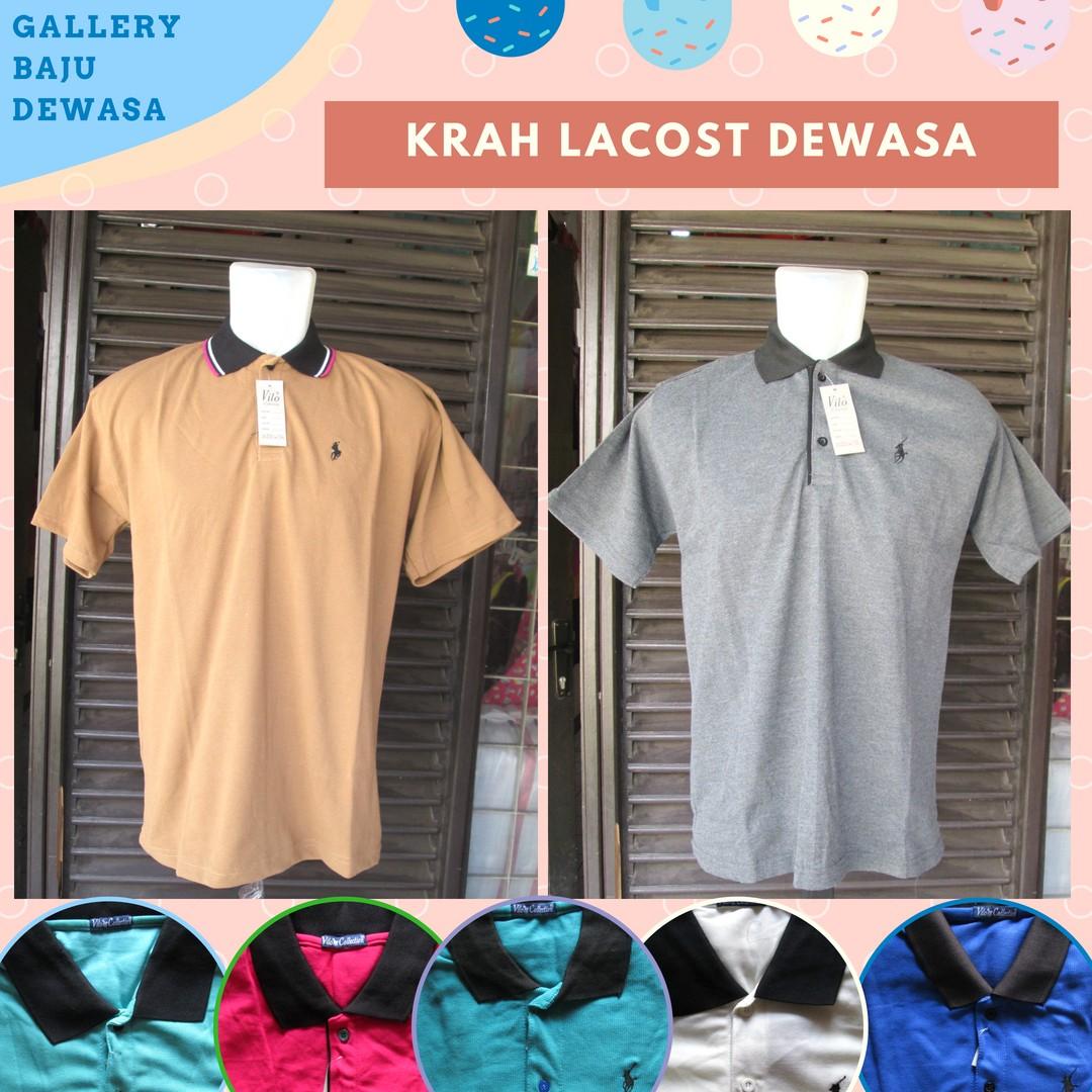 GROSIR PAKAIAN MURAH ONLINE DI BANDUNG Pusat Grosir Kaos Krah Lacoste Polos Dewasa Murah di Bandung 25Ribu