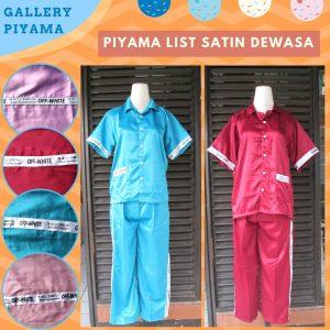 Distributor Piyama List Satin Dewasa Murah di Bandung