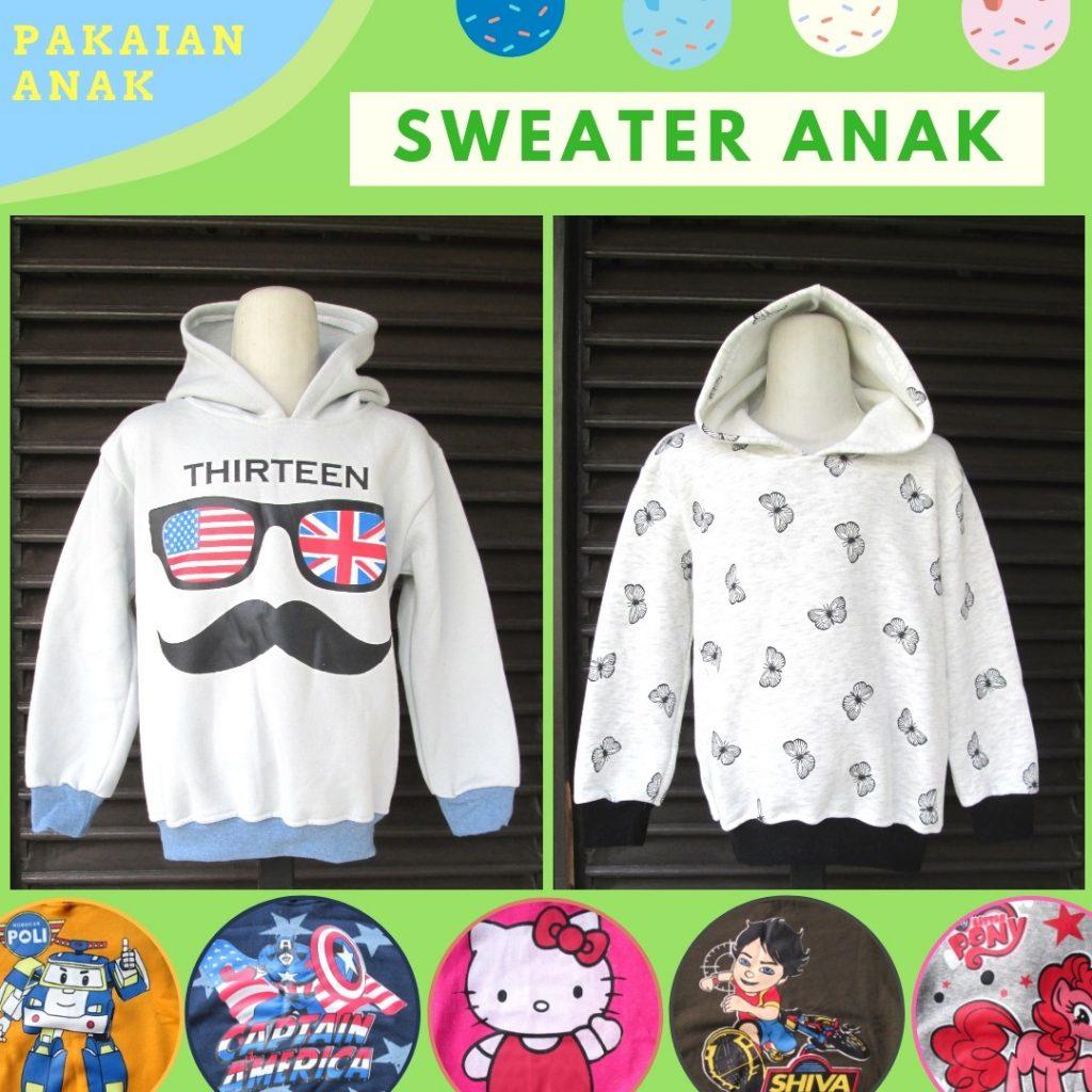 Grosiran Murah di Bandung Reseller Sweater Anak Karakter Murah di Bandung 20Ribu