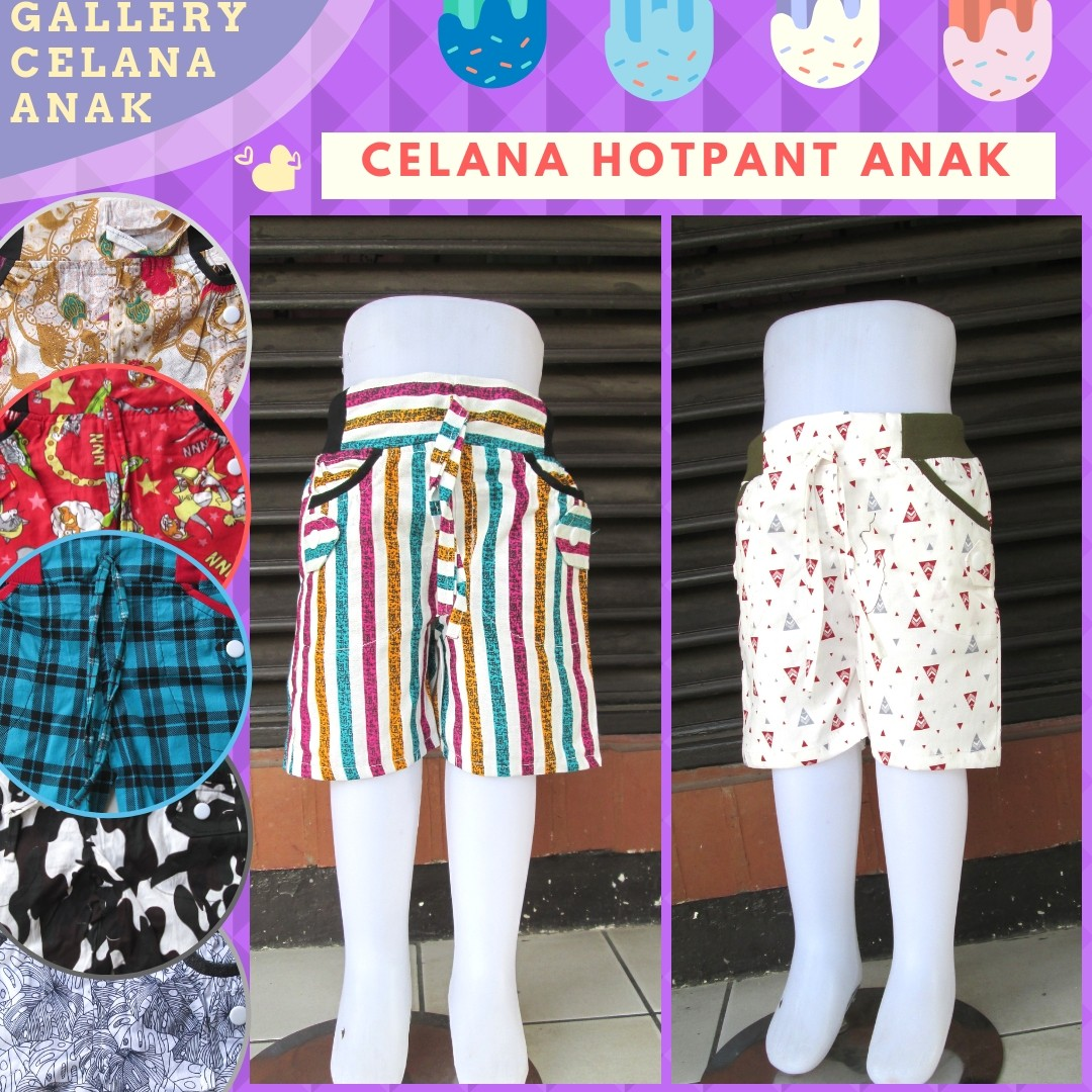 Grosiran Murah di Bandung Distributor Celana Hotpant Anak Terbaru Murah di Bandung 10Ribu