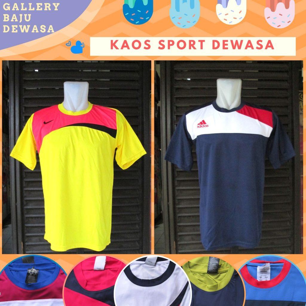 GROSIR PAKAIAN MURAH ONLINE DI BANDUNG Supplier Kaos Sport Dewasa Terbaru Murah di Bandung 20Ribu