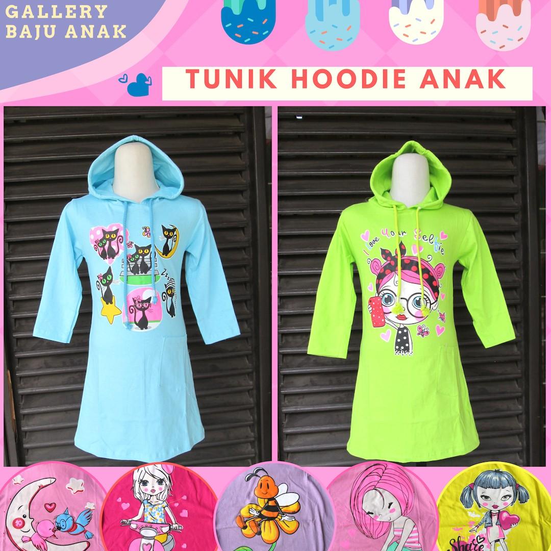 Grosiran Murah di Bandung Distributor Tunik Hoodie Anak Perempuan Murah di Bandung 30Ribu
