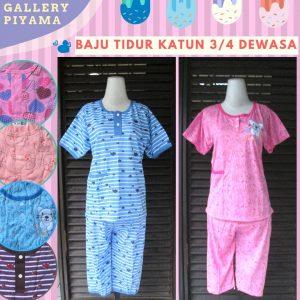 PusatGrosir Baju Tidur katun 3/4 Dewasa termurah di Bandung 26Ribu