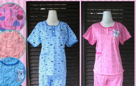 Grosiran Murah di Bandung Sentra Grosir Baju Tidur Katun 3/4 Wanita Dewasa Murah di Bandung 26Ribu