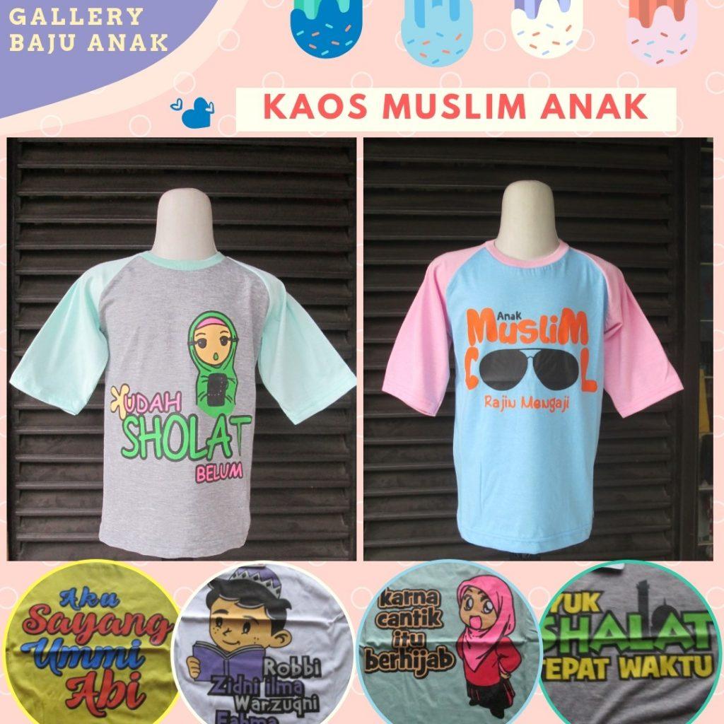Grosiran Murah di Bandung Distributor Kaos Muslim Anak Karakter Terbaru Murah di Bandung Rp.15.500