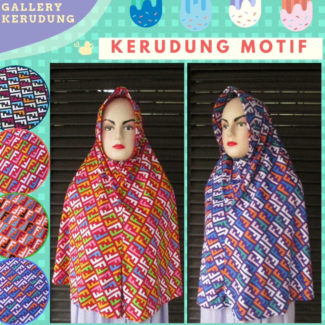 Grosiran Murah di Bandung Distributor Kerudung Motif Dewasa Terbaru Murah di Bandung 21Ribu