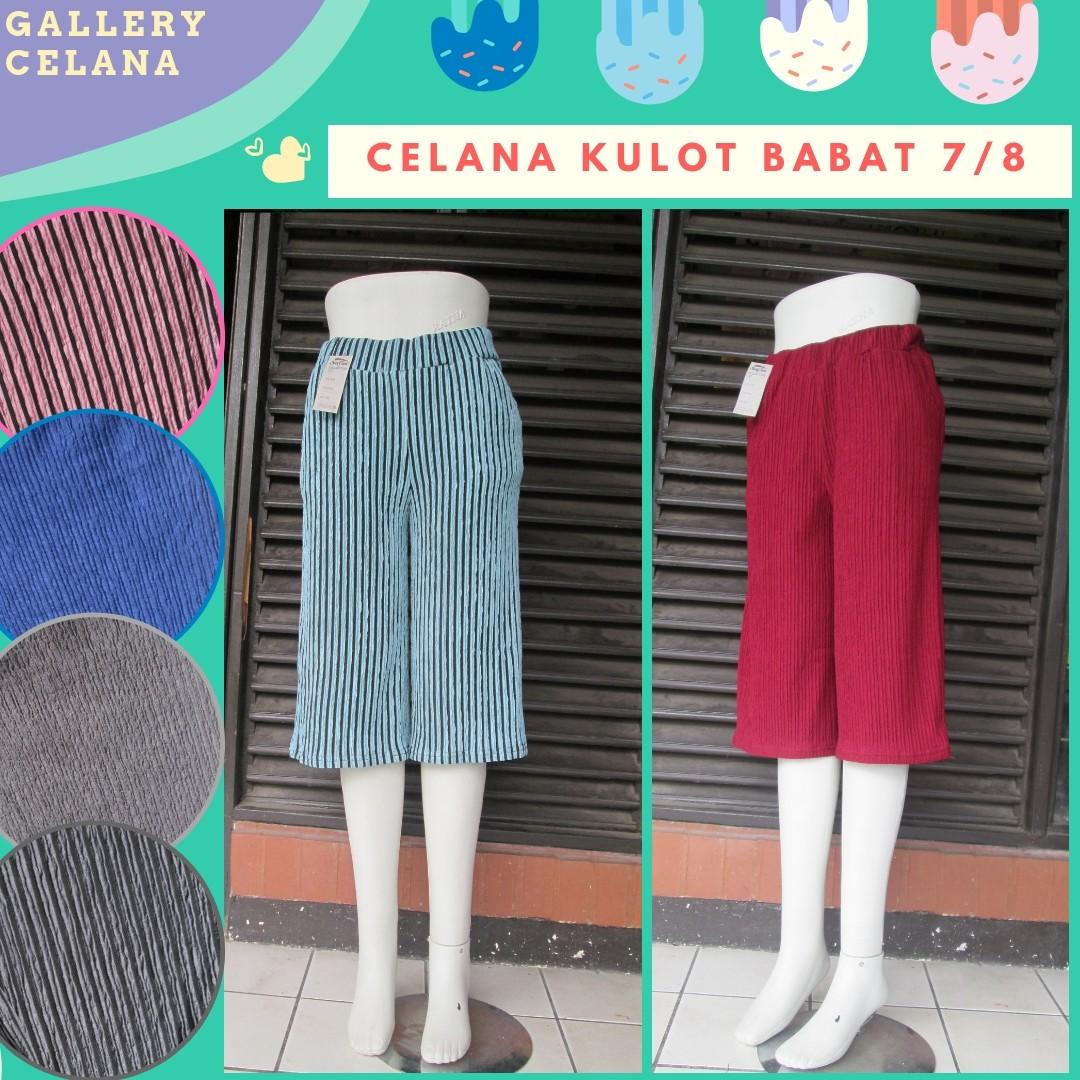 GROSIR PAKAIAN MURAH ONLINE DI BANDUNG Sentra Grosir Celana Kulot Babat 7/8 Wanita Dewasa Murah di Bandung 26Ribu