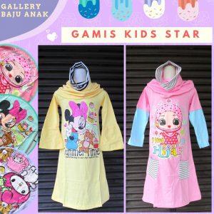 Supplier Gamis Kids Star Anak Karakter Murah di Bandung