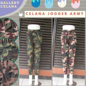 GROSIR PAKAIAN MURAH ONLINE DI BANDUNG Reseller Celana Jogger army Wanita Dewasa Murah di Bandung