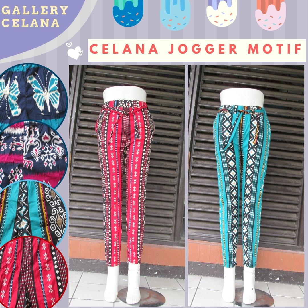 GROSIR PAKAIAN MURAH ONLINE DI BANDUNG Distributor Celana Jogger Motif Wanita Dewasa Murah di Bandung Only Rp.23.500
